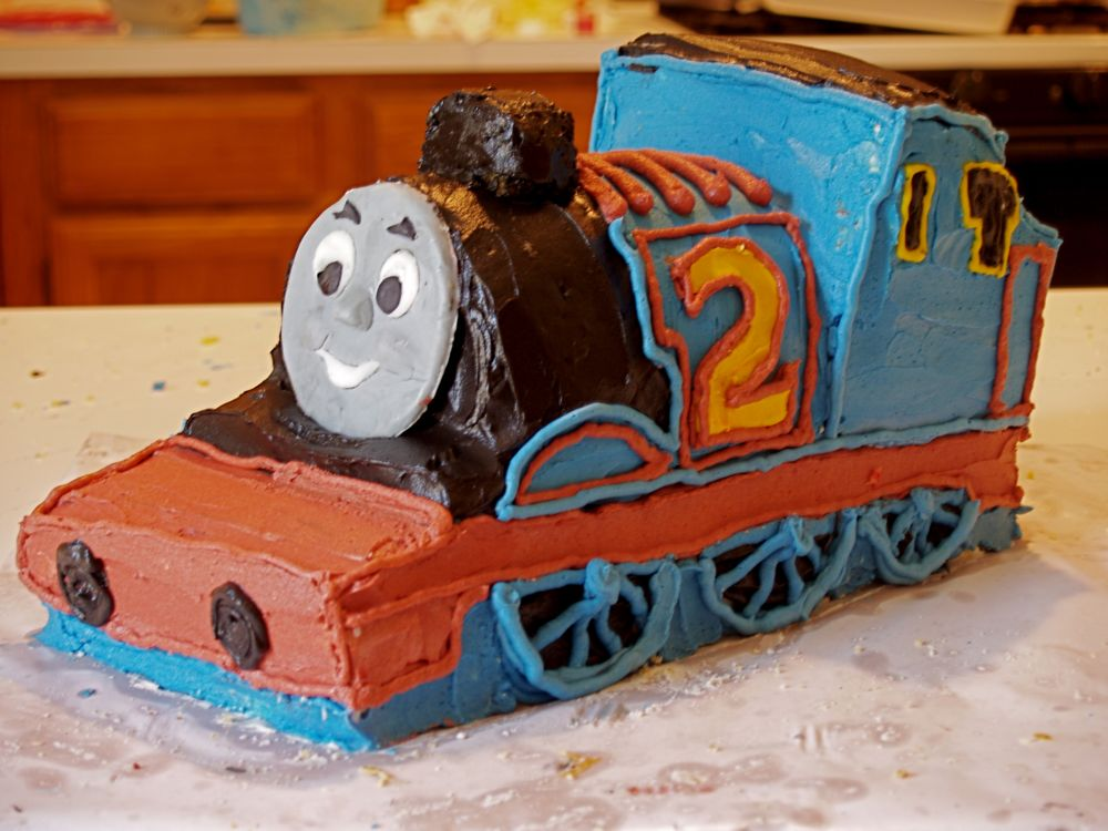 Thomas The Tank Engine 2Nd Birthday Cake - CakeCentral.com
