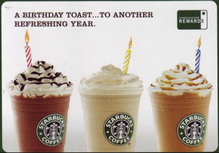 free starbucks latte or coffee on your birthday  beltway bargain, Birthday card