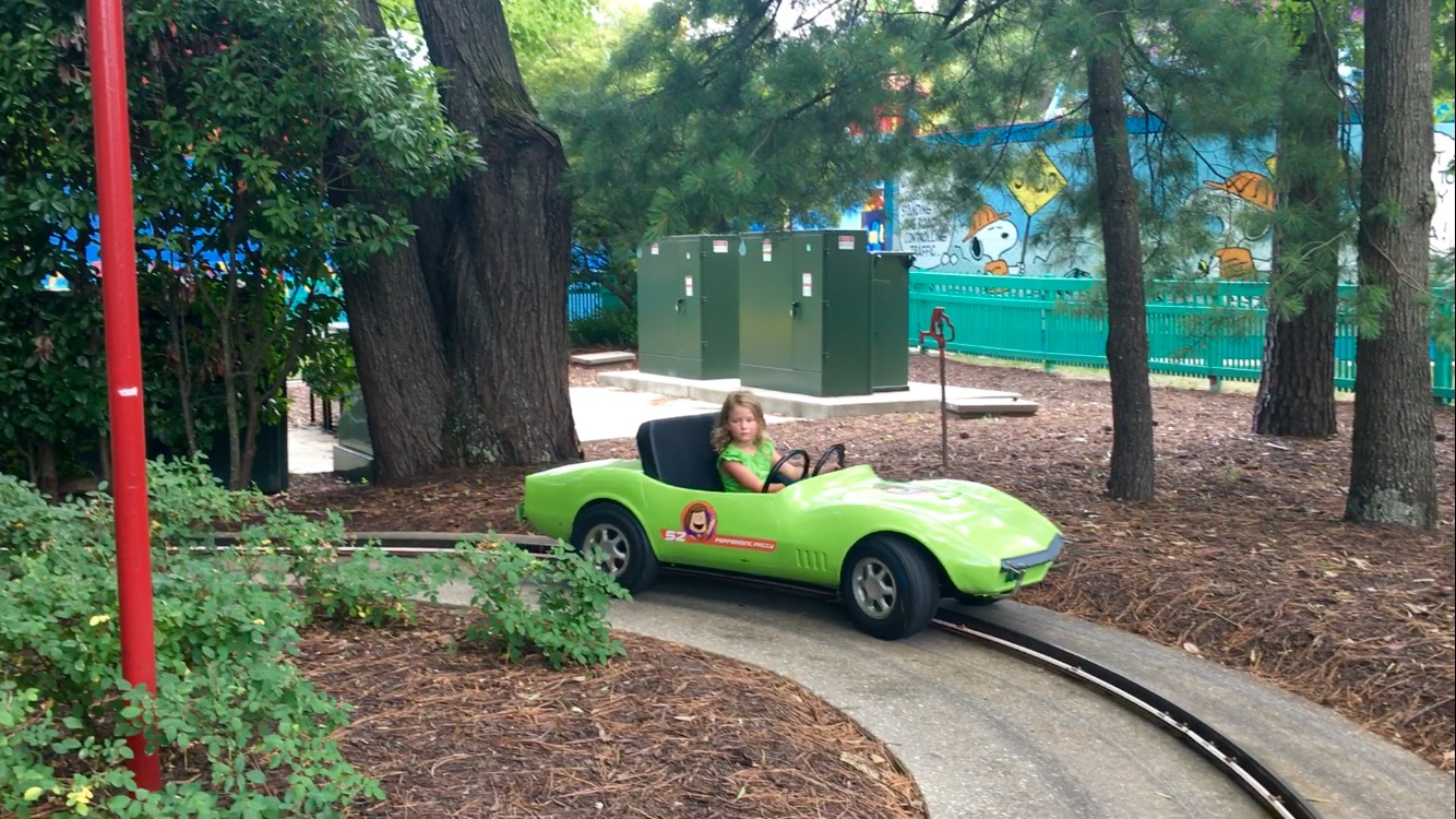 kings dominion car ride for kids peanuts turnpike