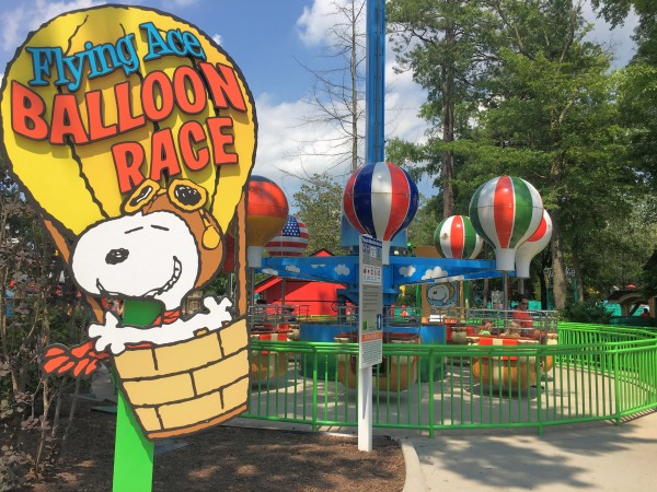 Kings Dominion Flying Ace Balloon Race Ride for Kids