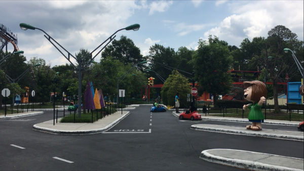 Planet Snoopy Joe Cools Driving School at Kings Dominion