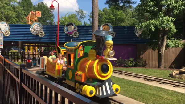 Snoopys Junction Train Ride at Kings Dominion VA