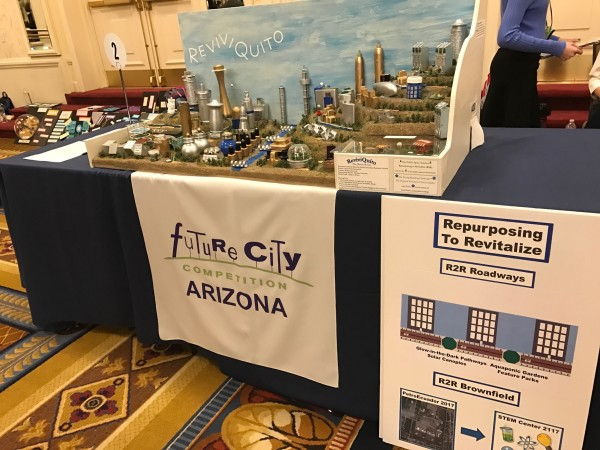 2nd place winners from Gilbert, AZ presented their future city ReviviQuito