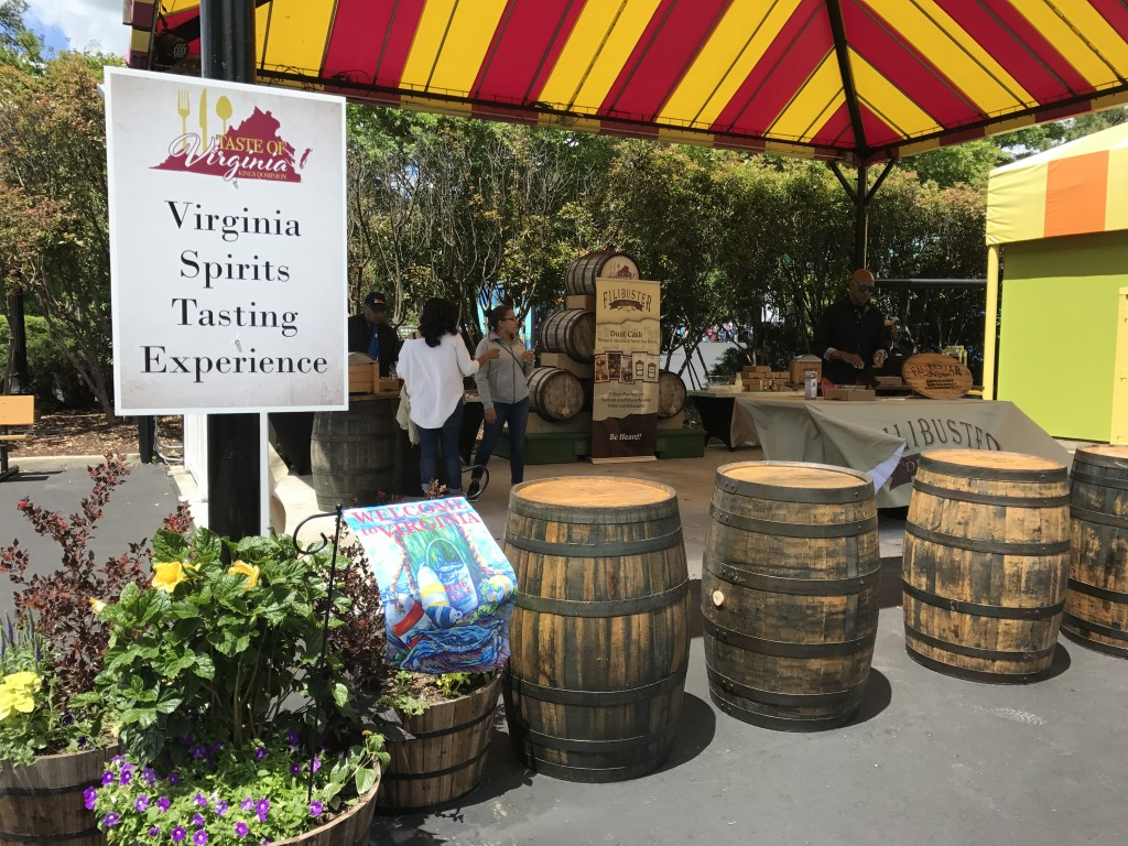 Taste of Virginia Spirits Tasting in Doswell, VA. Coasters and culinary treats.