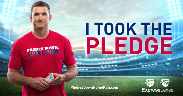 It's time to knock distracted driving out of the park with Virginia Express Lanes and Ryan Zimmerman's new safety campaign Phones Down Home Run