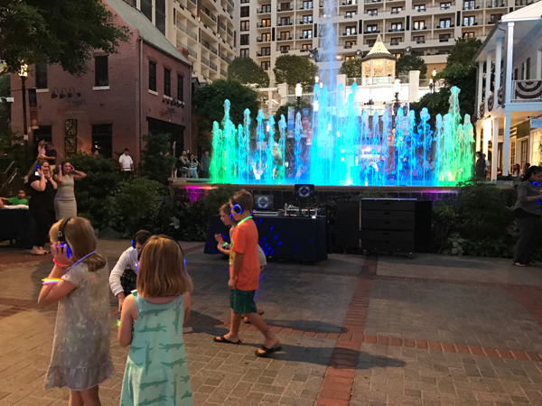 Gaylord National SummerFest Silent Disco and Americana Laser Light Show Set To Music MD