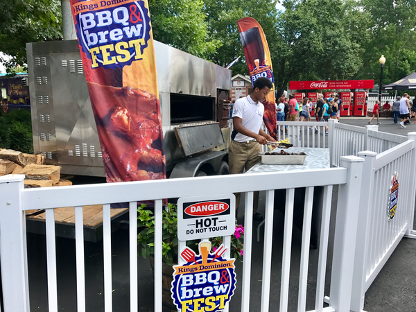 Kings Dominion BBQ Brew Fest Barbecue Cooking