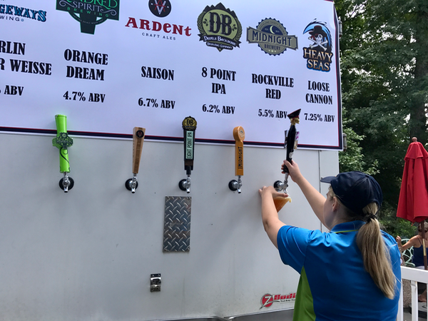 Kings Dominion BBQ Brew Fest Craft Beers on Tap