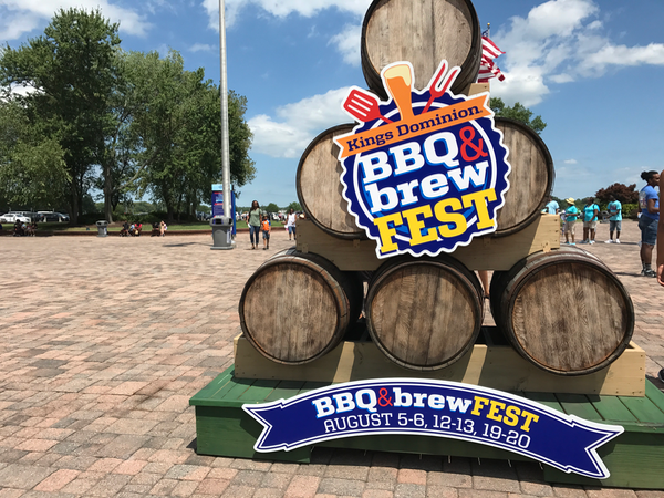Kings Dominion Special Events BBQ and Brew Fest Kegs