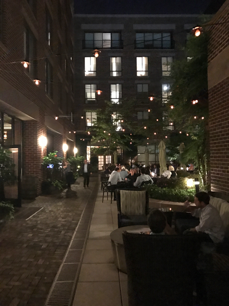 Outdoor Courtyard at Bourbon Steak and Four Seasons Hotel DC