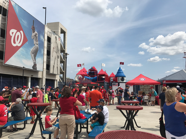 Playground and family activities in Nationals Park DC