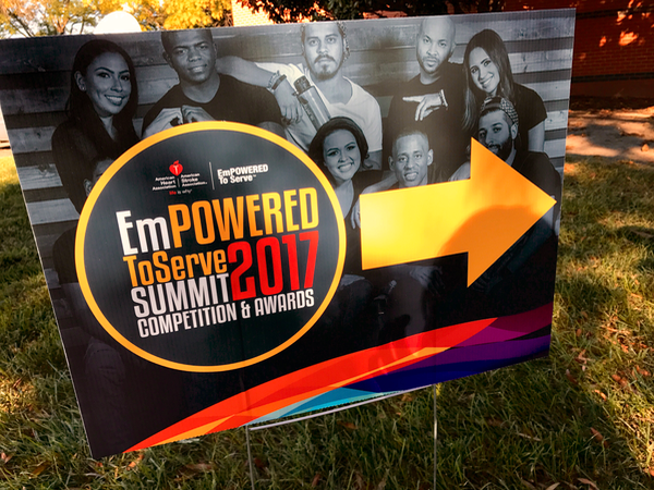 Empowered To Serve Summit Competition Awards Sign