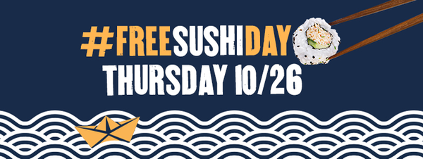 Enjoy one complimentary sushi roll on Free Sushi Day at P.F. Chang's