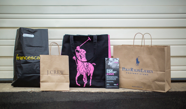 Potomac Mills shopping bags and Polo Ralph Lauren Pink Pony Reusable Tote with More Than Pink discount booklet