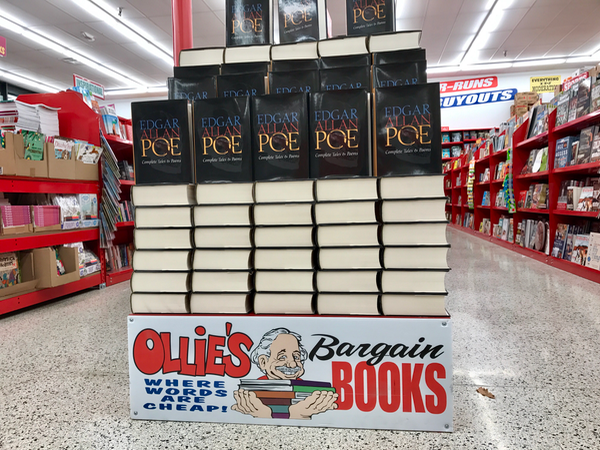 Books and Novels such as Edgar Allan Poe's works available at Ollies Bargain Outlet