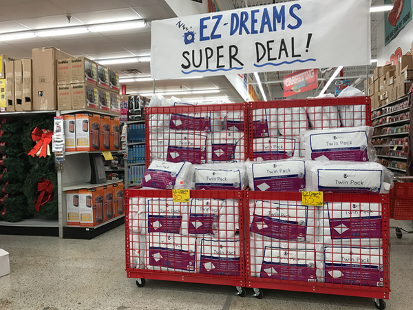 EZ Dreams Pillow Bargains at Ollies Bargain Outlet in VA
