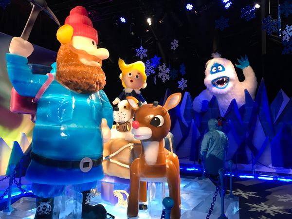 Gaylord Hotel ICE Rudolph the Red-Nosed Reindeer Attraction