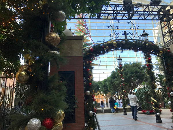 Gaylord National Atrium Water Fountain and Christmas Light Show