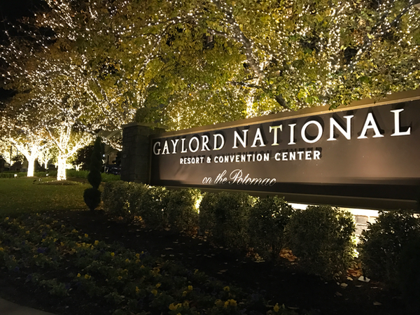 Gaylord National Resort and Convention Center on the Potomac Christmastime