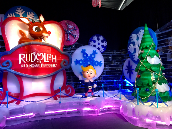 Gaylord National Rudolph the Red-Nosed Reindeer ICE attraction