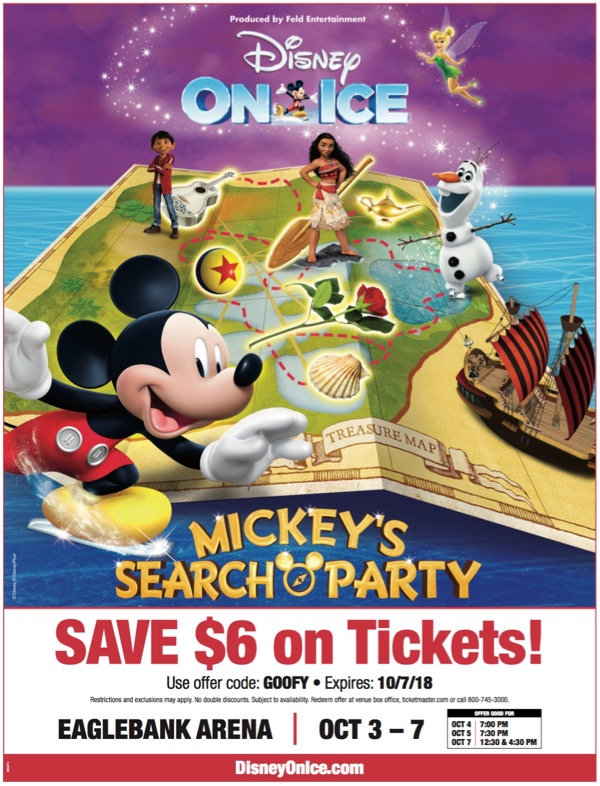 Disney On Ice Mickey's Search Party Arrives at EagleBank Arena